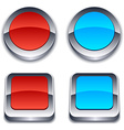 Realistic 3d buttons vector image
