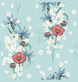 realistic isolated seamless floral pattern hand vector image