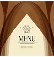 Restaurant menu design crown royal foods vector image vector image