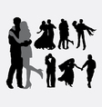 Romantic love and tenderness silhouette vector image vector image