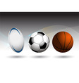 Rugby Football and Basketball background vector image vector image