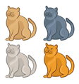 set cute cartoon cats vector image vector image