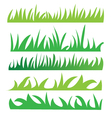 set green grass vector image