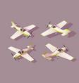 set light aircraft for transportation air vector image vector image