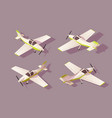 set light aircraft for transportation by air with vector image vector image