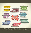 set of flat labels paper tagspromotion banners or vector image vector image