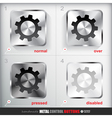 Set of four positions of Circle Metal Settings vector image vector image