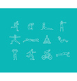 set of linear sport icons vector image
