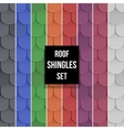 Set of Shingles roof seamless patterns vector image vector image
