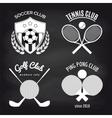 set sport banners on chalkboard vector image vector image