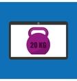 sport laptop app concept kettlebell vector image