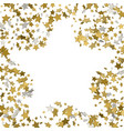 stars confetti frame of yellow shiny little stars vector image vector image
