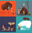 stone age concepts prehistoric ancient human and vector image