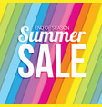 summer sale on colorful striped seamless vector image vector image