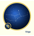 Virgo constellation vector image