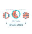 voice control concept icon vector image vector image