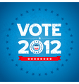 vote 2012 background vector image