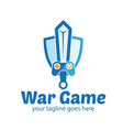 War Game Logo vector image vector image