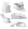 White boxes set isolated on white vector image vector image