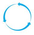 blue arrow icon on white background blue arrow vector image