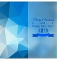 Abstract mosaic blue color behind a glass vector image vector image