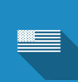 american flag icon with long shadow flag of usa vector image vector image