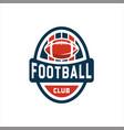 american football logo badgemodern vector image vector image