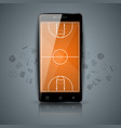 basketball court sport smartphone icon vector image