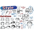 Beauty salon Doodle set Modern funky vector image vector image