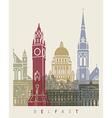 Belfast skyline poster vector image vector image