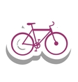 bike or bicycle pictogram icon image vector image