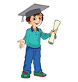 boy graduate vector image vector image