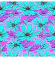 Bright floral seamless pattern wallpaper vector image vector image