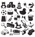 Children Toys Icon Set vector image vector image