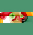 circle composition geometric minimal vector image