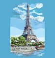 colorful hand drawing paris 1 vector image vector image