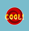 cool sticker social media network message badges vector image vector image