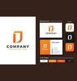 creative professional trendy monogram d logo vector image