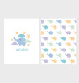cute baby shower elephant set vector image
