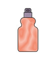 detergent bottle icon in colored crayon silhouette vector image