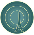 eiffel tower in paris gradient radiant backdrop vector image vector image