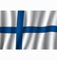 finland flag finnish nordic cross national banner vector image