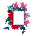 floral colorful frame template vector image vector image