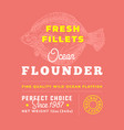 fresh fillets premium quality label abstract vector image vector image