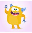happy cartoon monster vector image vector image