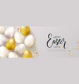 happy easter banneregg hunt beautiful background vector image vector image