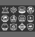 hunt wild animals and birds hunter club badges vector image vector image