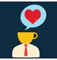 Icon man thinking about romance vector image