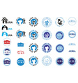icons inscription aura and house vector image vector image