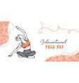 international yoga day minimalist banner vector image